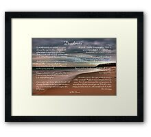 Desiderata Inspirational Poem on Seashore Framed Print