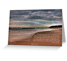 Desiderata Inspirational Poem on Seashore Greeting Card