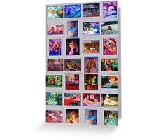 Masterpieces  1, watercolor Greeting Card