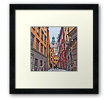 Lost in Gamla Stan Framed Print