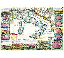 1706 de la Feuille Map of Italy Geographicus Italy lafeuille 1706 Photographic Print