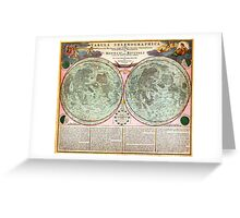 1707 Homann and Doppelmayr Map of the Moon Geographicus TabulaSelenographicaMoon doppelmayr 1707 Greeting Card