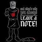 No Note? You Shall Not Pass (Black Variant) by huckblade