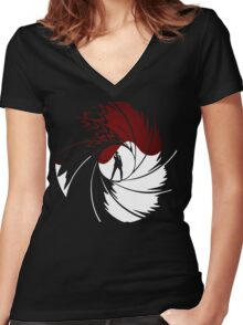 50th Anniversary - BOND - Red or Black Women's Fitted V-Neck T-Shirt