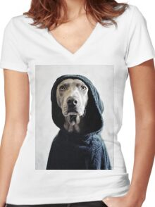 """The Dogside Project"", The Origin. Women's Fitted V-Neck T-Shirt"