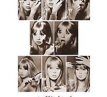 Pattie Boyd Vintage Makeup Tutorial by Kanagie