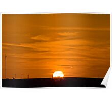 Marree Sunset - South Australia Poster