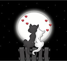 Cats in the Moonlight by SandraWidner