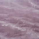 Waves of pink salt - Lake Eyre - South Australia by Norman Repacholi