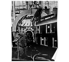 Train Arriving at the Factory to Unit of Stoppages. Poster