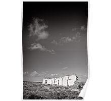 Standing in an unforgiving landscape - Flinders Ranges - South Australia Poster
