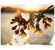 Catch a gleam of glory bright. Poster