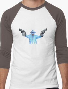 Raylan Givens from Justifed T-Shirts and Stickers Men's Baseball ¾ T-Shirt