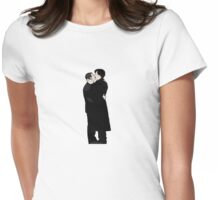 KISSING SHERLOCK AND JOHN/small Womens Fitted T-Shirt