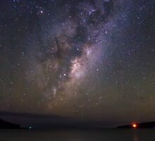 Milky Way Rising Over Tawharanui by ValHallen