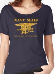 Navy SEALs Stencil Women's Relaxed Fit T-Shirt