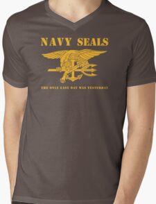 Navy SEALs Stencil Mens V-Neck T-Shirt