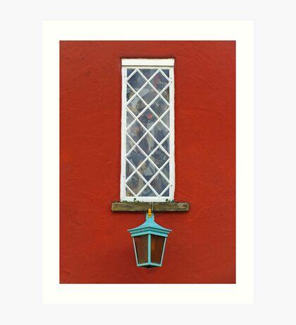 Window and Lantern Art Print