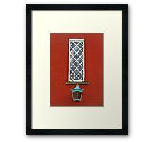 Window and Lantern Framed Print