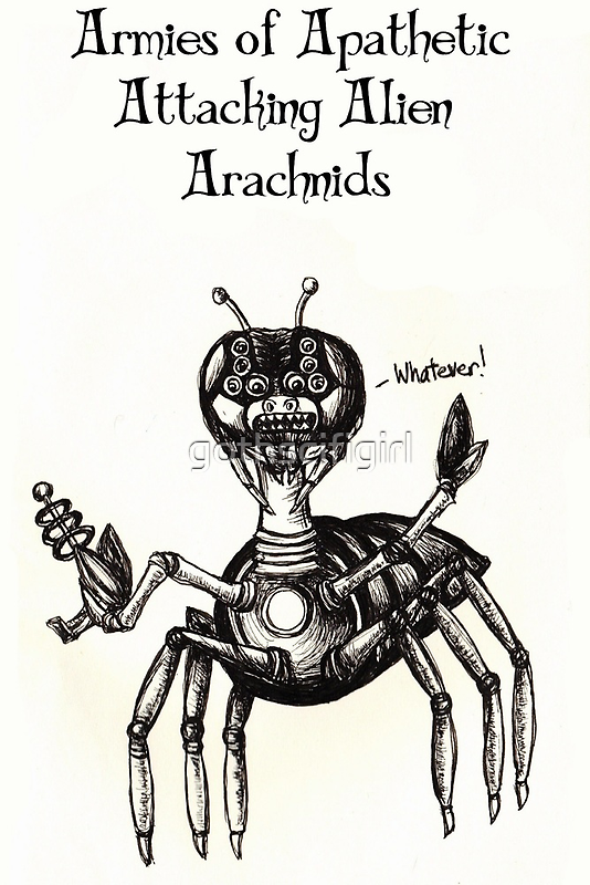 Apathetic Arachnids Cards and Prints by gothscifigirl