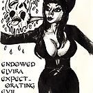 Elvira Expectorating Ectoplasm Cards and Prints by gothscifigirl