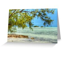 Paradise on Earth at Coral Harbour in Nassau, The Bahamas Greeting Card