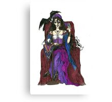 Gypsy Woman with Raven Cards and Prints Canvas Print