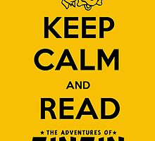 Keep Calm and Read Tintin (print) by rafstardesigns