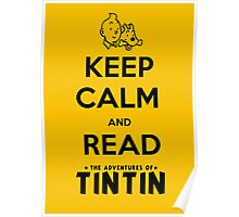 Keep Calm and Read Tintin (print) Poster