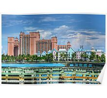 Atlantis and Harbor Village in Paradise Island, Nassau, The Bahamas Poster