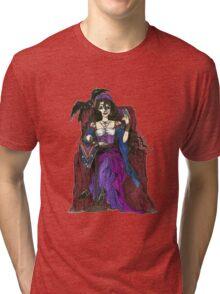 Gypsy Woman with Raven T-shirts Tri-blend T-Shirt