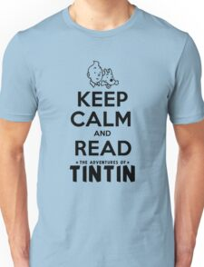 Keep Calm and Read Tintin Unisex T-Shirt
