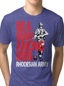 Rhodesian Army Recruiting Poster Graphic Tri-blend T-Shirt