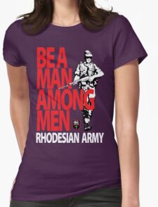 Rhodesian Army Recruiting Poster Graphic Womens Fitted T-Shirt