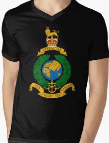 Royal Marines Commando Full Color Mens V-Neck T-Shirt