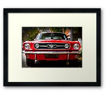 "Ford Mustang 65 ""The Red Pony"" Framed Print"