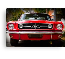 "Ford Mustang 65 ""The Red Pony"" Canvas Print"