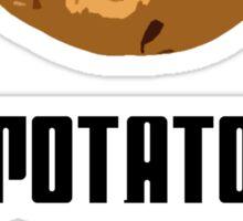I'm With The Potato Sticker