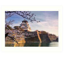 Late Afternoon Sun, Osaka Castle, Japan. Art Print