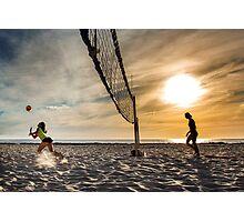 Beach volleyball Photographic Print