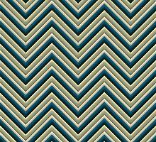 Chevron (Beach colours) iPhone Case by papertopixels