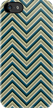 Chevron (Beach colours) iPhone Case by papertopixels