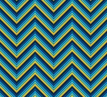 Chevron (Blues) iPhone Case by papertopixels