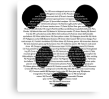 101st panda Canvas Print
