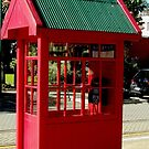 Red Telephone Box New Zealand by Sandra  Sengstock-Miller