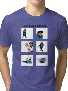 Captain Haddock Meme Tri-blend T-Shirt