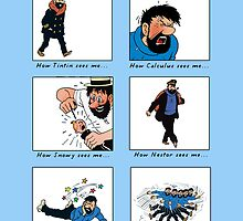 Captain Haddock Meme (print) by rafstardesigns