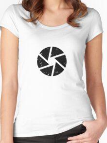 Iris Logo, black Women's Fitted Scoop T-Shirt
