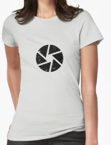 Iris Logo, black Womens Fitted T-Shirt