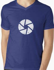 Iris Logo, White Mens V-Neck T-Shirt